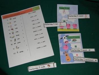 Past Tense Irregular Verb Sentences Literacy Center- Hard Good