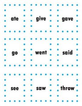Past Tense Irregular Verbs Matching