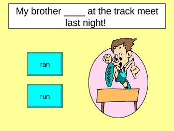 Past Tense Irregular Verbs Powerpoint