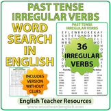 Past Tense Irregular Verbs in English - Word Search
