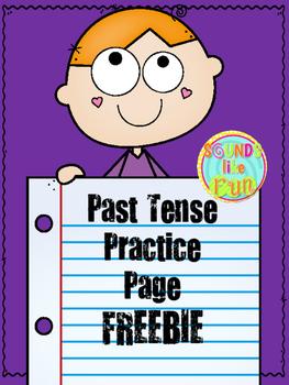 Past Tense Practice Page FREEBIE