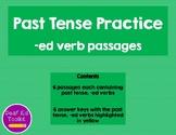 Past Tense Practice: -ed verbs
