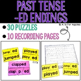 Past Tense Puzzles for -ED Endings