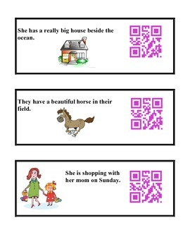 Past Tense QR Code Scavenger Hunt