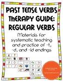 Past Tense Regular Verbs Therapy Guide