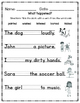 Past Tense Regular Verbs Worksheet