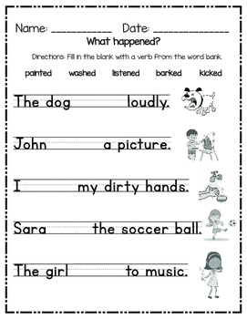 Regular Past Tense Verbs Worksheet Worksheets for all | Download ...