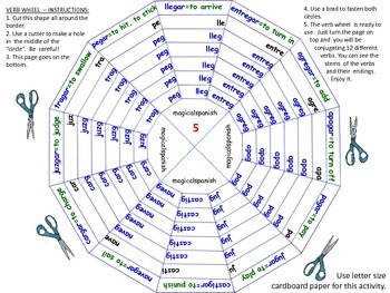 Past Tense. Regular and Irregular Verbs. Verb Wheels. PDF ...