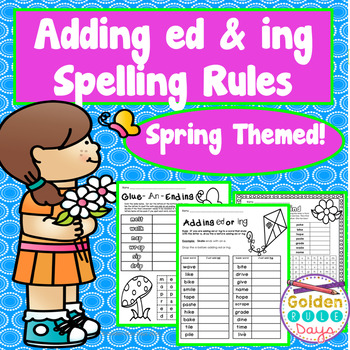 Past Tense Spelling Rules When Adding ed & ing  33 Suffix Printables & Posters
