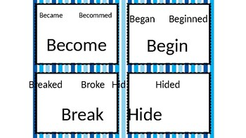 Past Tense Task Cards