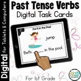 Past Tense Verb Activities: First Grade Digital Task Cards for Grammar Practice
