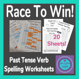 Past Tense Verb English Worksheets- Race To Win