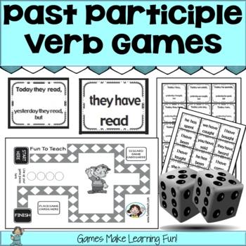 Past Tense Verb Grammar Games - Past Participle