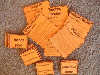 Past Tense Verb Grammar Games - Past Participle   ✅ TPT Digital Activities