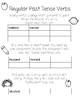 Past Tense Verb Interactive Notebook