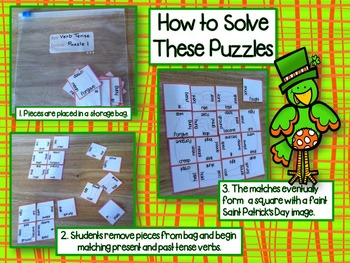 Past Tense Verb Picture Puzzles