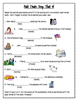 Past Tense Verb Practice Pack