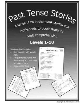 Past Tense Verb Stories 1-10