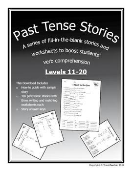 Past Tense Verb Stories 11-20