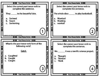 Past Tense Verb Task Cards