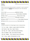 Past Tense Verb Tense Worksheet Set - No Prep