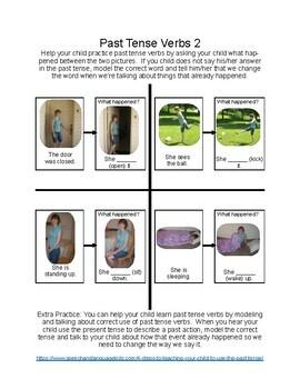 Past Tense Verb Worksheets
