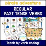 Regular Past Tense Verbs Cards and Games