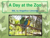 """English Past Tense Verbs - """"A Day at the Zoo"""""""
