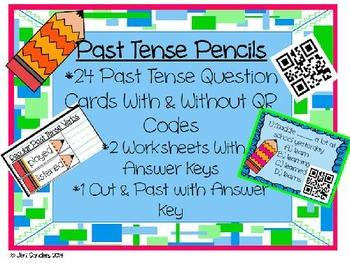 Past Tense Verbs Activities
