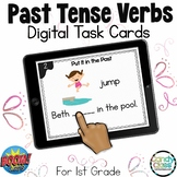 Past Tense Verbs Activity: BOOM Cards™ for Digital ELA Pra