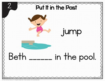 Past Tense Verbs Activity: BOOM Cards™ for Digital ELA Practice in First Grade