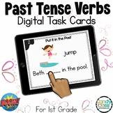 Past Tense Verbs Activity: BOOM Cards™ for Digital ELA Pra
