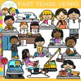 Past Tense Verbs Clip Art