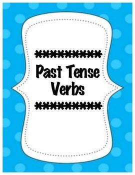 Past Tense Verbs Lesson Plan