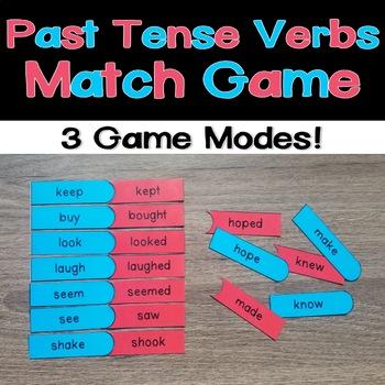 Past Tense Verbs Match Game