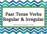 Past Tense Verbs (Regular & Irregular) for late elementary, MS, & HS