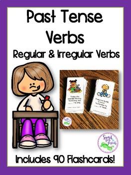 Past Tense Verbs Flashcards (Regular & Irregular Past Tense)
