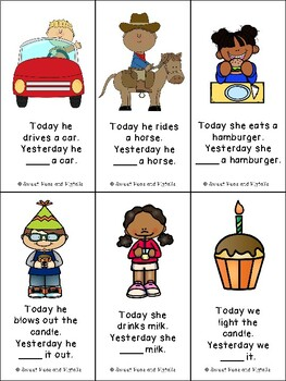 Past Tense Verbs Flashcards (Regular & Irregular Past Tense)