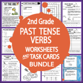 Past Tense Verbs Activities + COMPLETE Lesson, Poster, and FULL COLOR Game