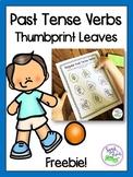 Past Tense Verbs Thumbprint Leaves FREEBIE (Regular & Irre