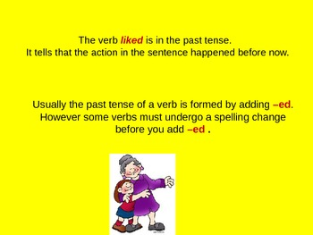 Past Tense Verbs for Visual Learners