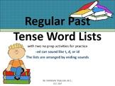 Past Tense -ed