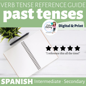 Past Tenses Spanish Reference Guide / Booklet