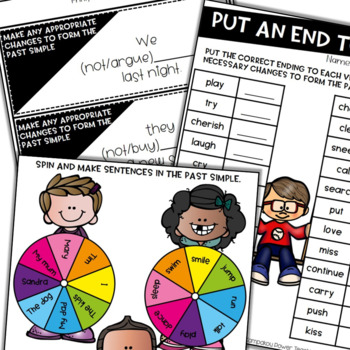 Past Tenses with Games, Cards and Printables (Irregular Verbs Included)