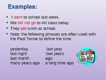 Past Verb Tenses PowerPoint