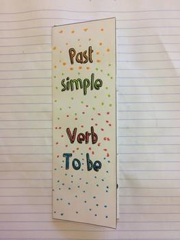 Past Verb To Be Flap Book