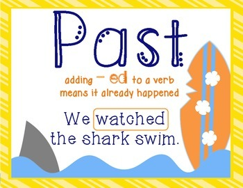 Past and Present Tense Verbs - Cut and Paste - Expand the Sentence