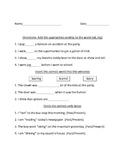 Past and Present verb ending Worksheet