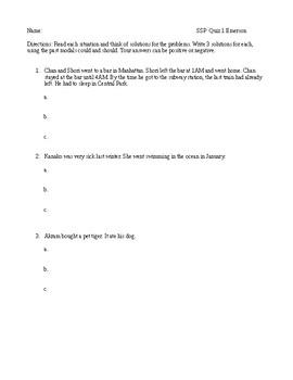 Past modals quiz