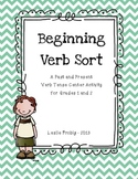 Past or Present Verb Tense Sort